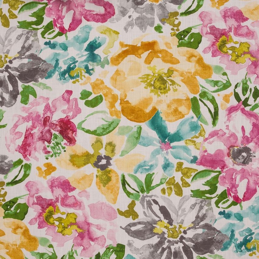 Wild Rose Pink Floral Print Upholstery Fabric Floral Print Upholstery Floral Upholstery Upholstery Fabric