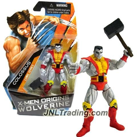 Marvel Year 2009 X Men Origins Wolverine Series 4 1 2 Inch Tall Action Figure Comic Series Colossus With Hammer X Men Action Figures Marvel Years