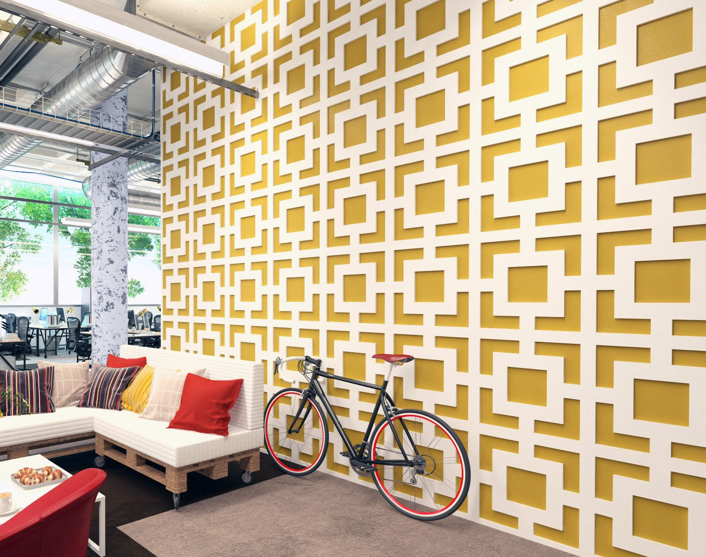 Mid Century Modern - Wall Paneling - Panele 3D - 3D Wall Panels ...