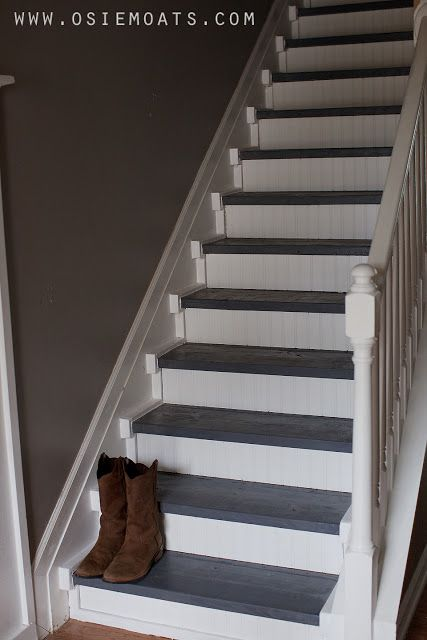 Osie Moats Diy Lifestyle Decorating Blog Diy 50 Stair Makeover Reveal Stair Makeover Diy Staircase Painted Stairs
