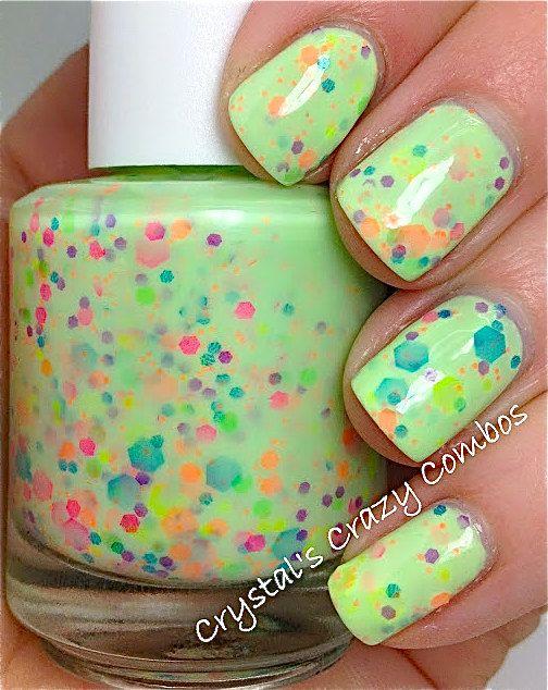 NEW Neon--Green Genie: Custom-Blended NEON Glitter Nail Polish ...