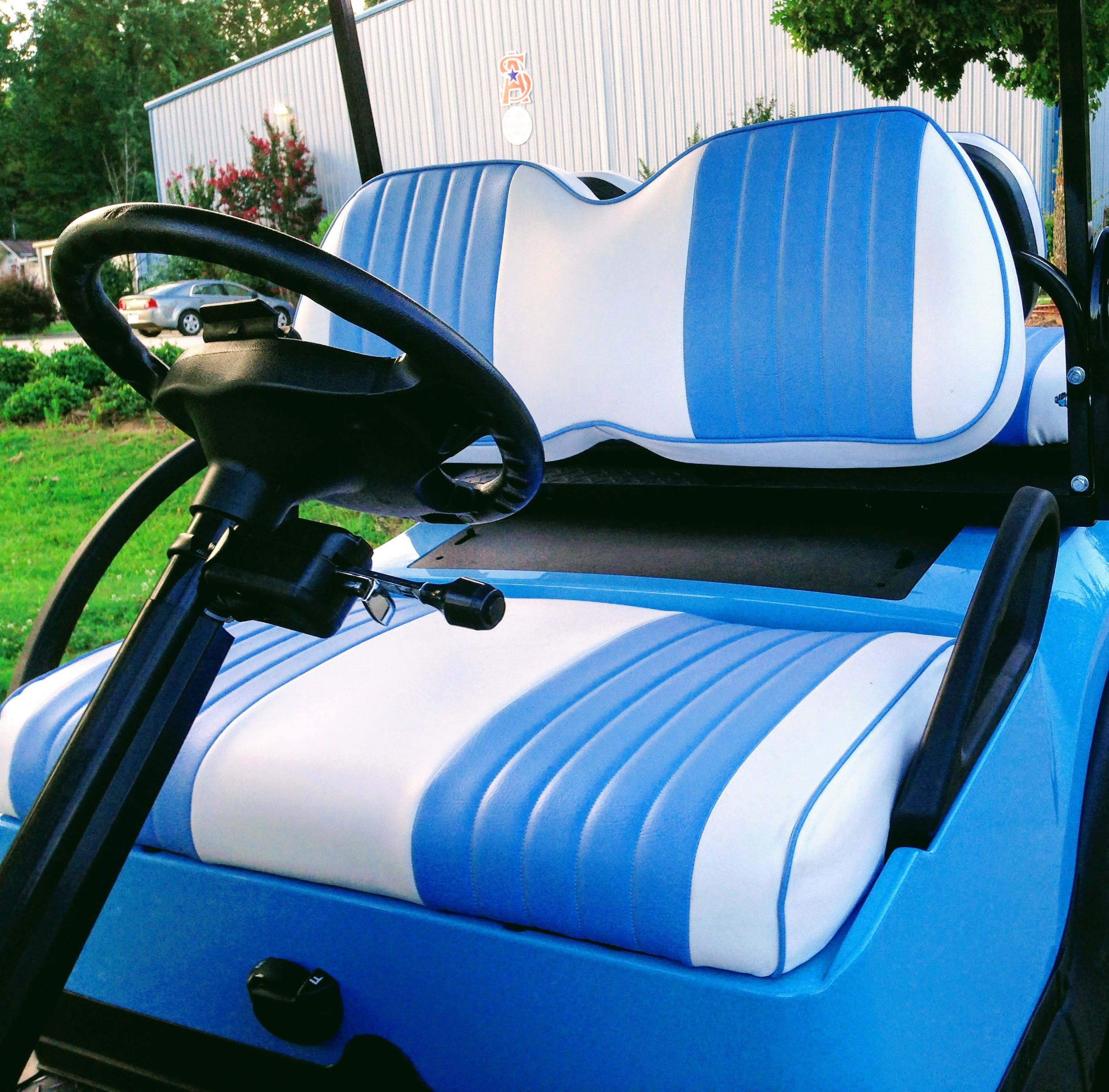 Customize Your Club Car With Two Toned Golf Cart Seat Covers Clubcargolfcart