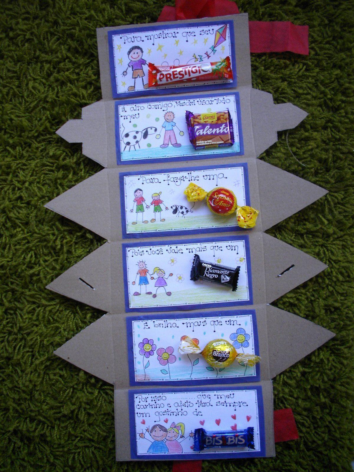 Artesanato Em Feltro Unicornio ~ Lembrancinha para Dia dos Pais Passo a Passo Caixa de Bombons Caixas de bombons, Bombom e