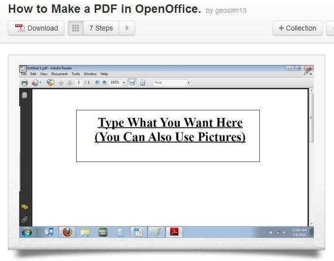 How to Make a PDF in OpenOffice Apache openoffice, Open office - apache open office resume template