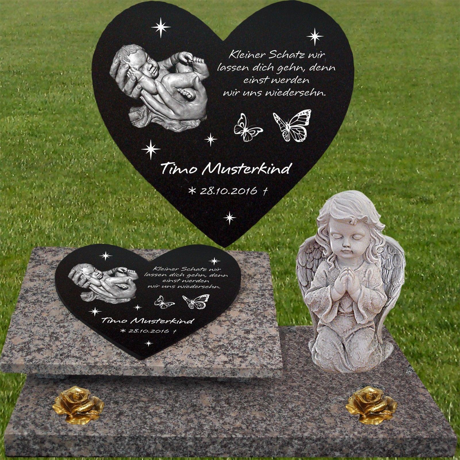 Grabstein Grabplatte Grabmal  Gedenkstein Motiv Text  ca.60x40 cm Granit Gravur