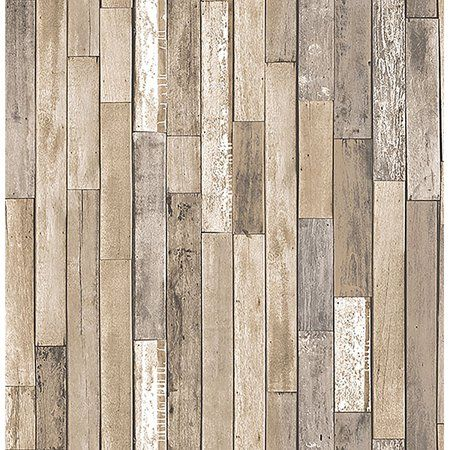 Brewster Barn Board Brown Thin Plank Wallpaper Walmart