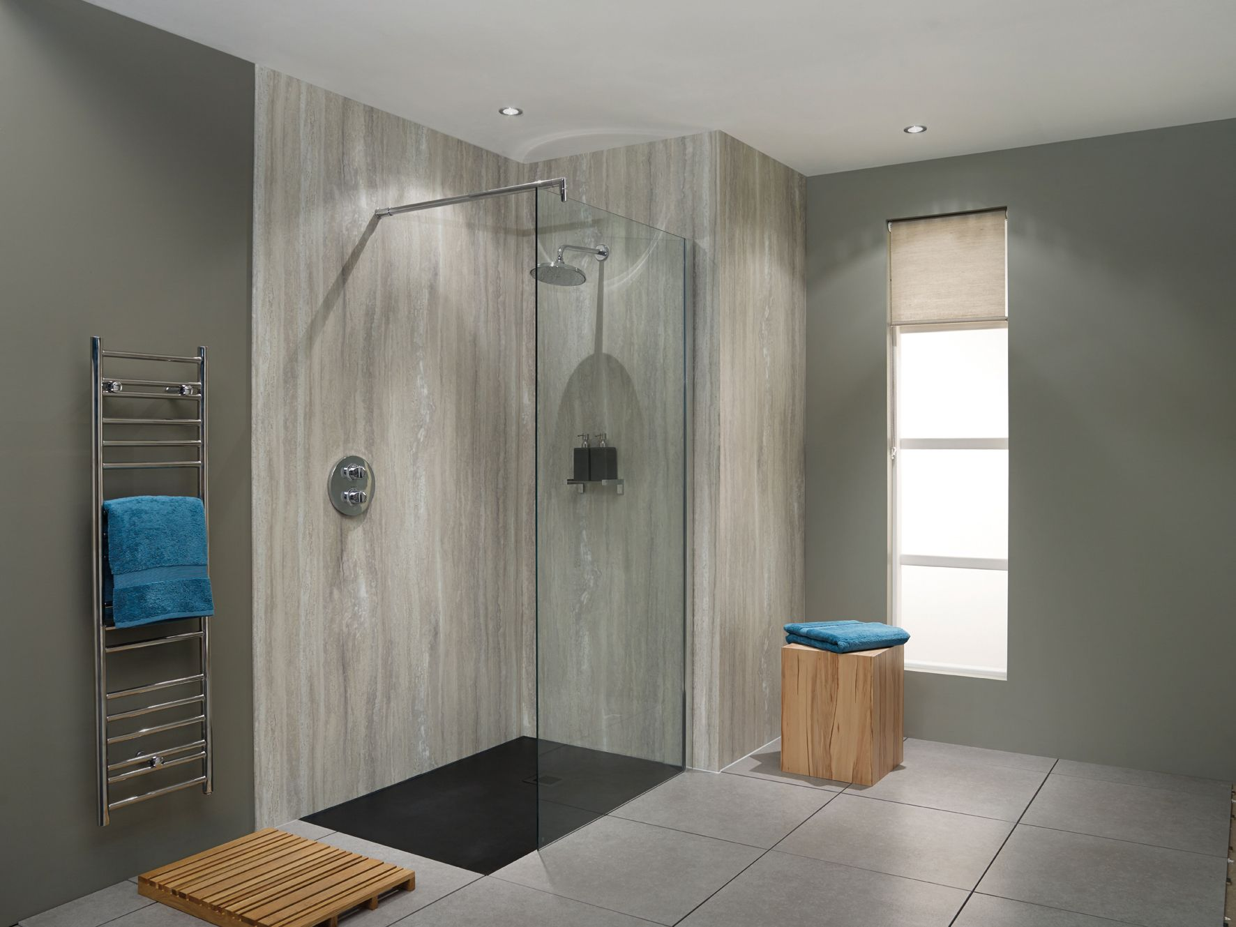 Nuance Laminate Panelling Is An Ideal Alternative To Tiling There Are No Grout Lines To Scrub At An Bathroom Wall Panels Shower Panels Bathroom Shower Panels