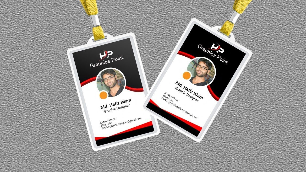 How To Make Id Card In Photoshop Company Id Card Design Identity Card Design Modern Business Cards Design Colorful Business Card