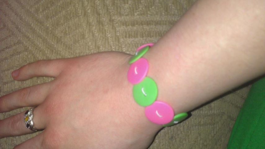 Easy button bracelet I made:)