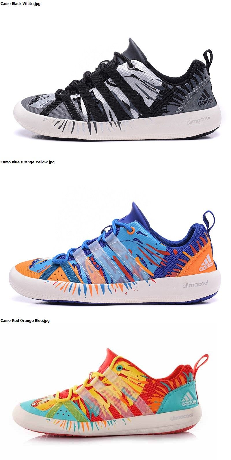 2b563ebff203 Adidas Climacool Boat Lace Graffiti Unisex wading shoes Free Shipping Camo  Black White