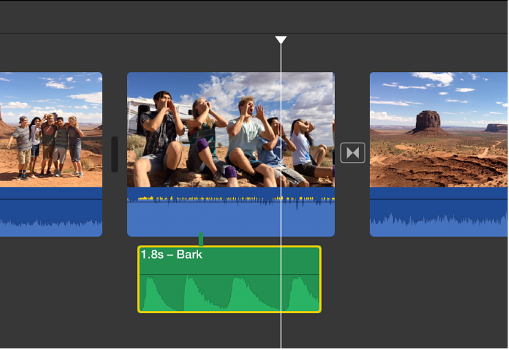 iMovie for Mac Apply audio effects to clips How to