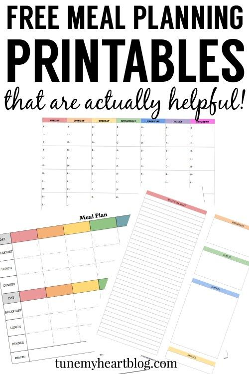 printable meal calendar