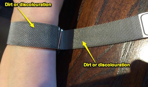 how to clean apple watch band