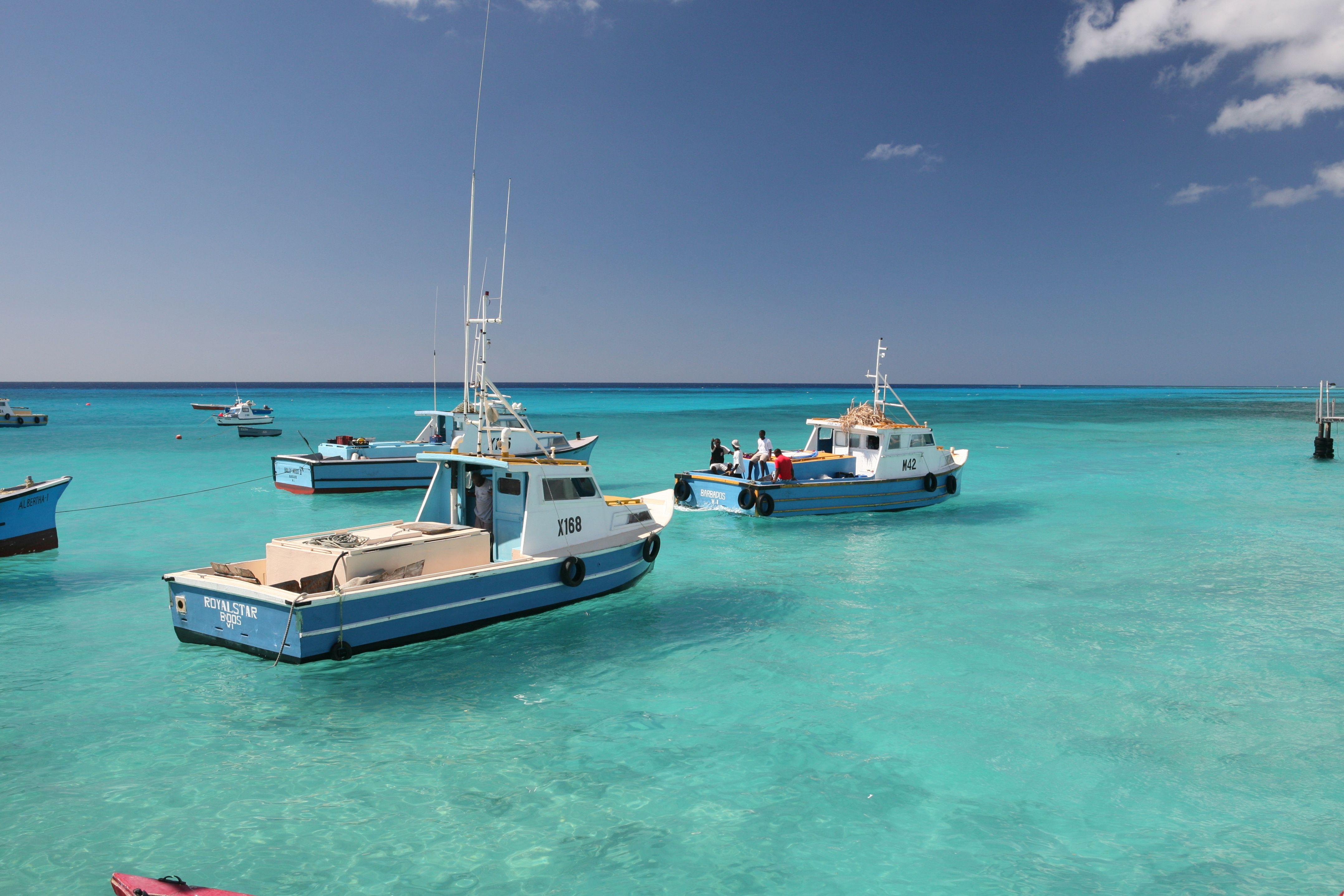 Fishing Boats in Barbados - #Caribbean