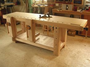 Woodworking Bench Vise Plans Holzbank Holzbearbeitungs Projekte Holzarbeiten Plane