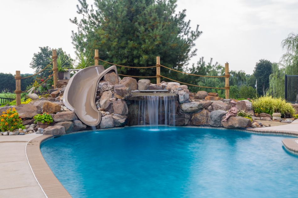 Pool Grottos Aquatic Artists Pool Waterfalls Nj Pa Ny De Md Pool Waterfall Swimming Pool Designs Swimming Pools Backyard