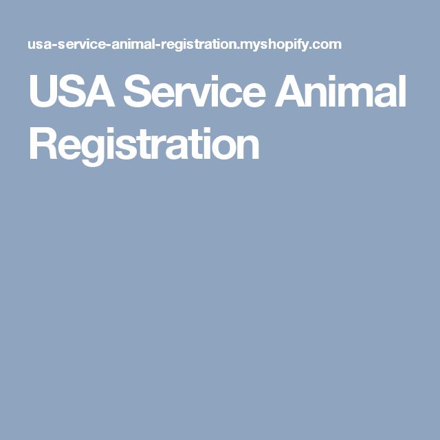 Usa Service Animal Registration Service Animal Service Dog Vests Emotional Support Animal