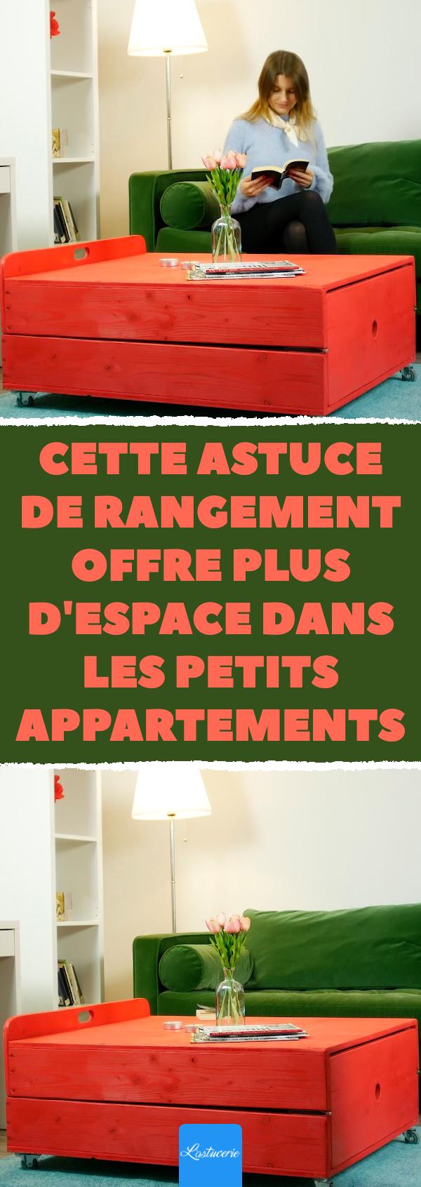 Cette Astuce De Rangement Offre Plus D Espace Dans Les Petits Appartements Diy Malin Lit Dans La Table Idees De Meubles Astuce Rangement Petit Appartement