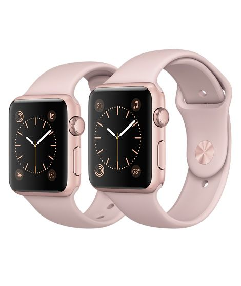 5ffab61987b Shop Apple Watch Rose Gold Aluminum in 38mm and 42mm. Available in Series 1  or in Series 2 with built-in GPS. Buy now with fast