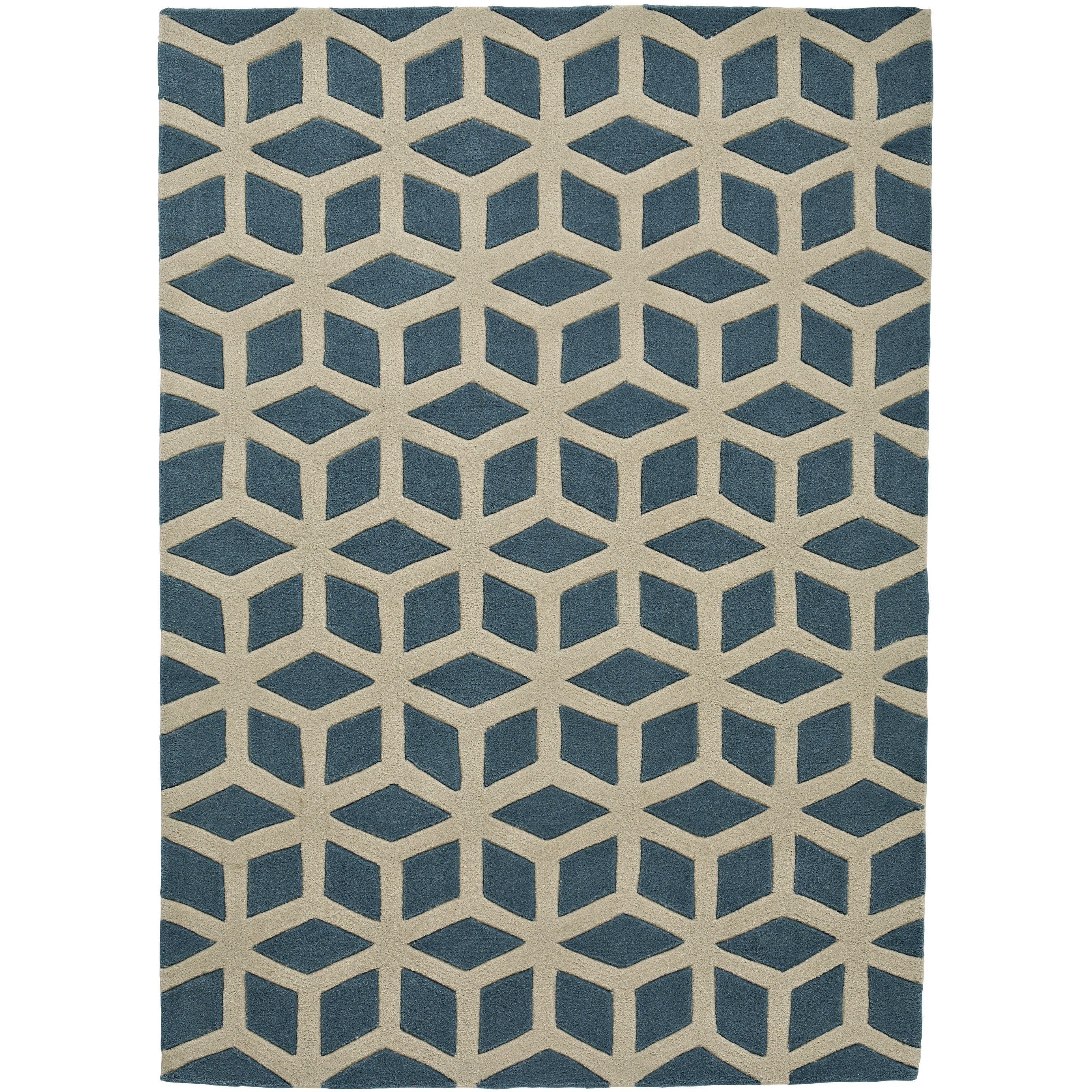 Think Rugs Hong Kong Hand Tufted Blue Area Rug Wayfair Co Uk