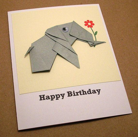 Origami elephant birthday card creativity pinterest origami origami elephant birthday card bookmarktalkfo Gallery