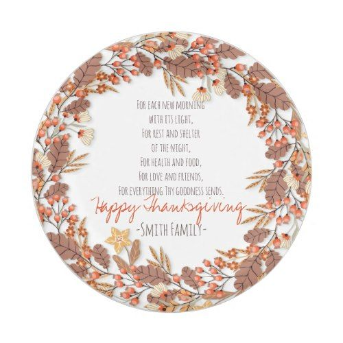 Happy Thanksgiving. Custom. Paper Plate  sc 1 st  Pinterest & Thanksgiving Poem. Happy Thanksgiving. Custom. Paper Plate ...
