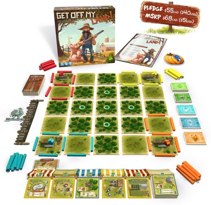 "A game of ""Close Quarter Farming"" as players compete for limited land and resources. Will you be the most successful farmer?"