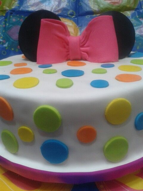 #PrettyCakes... #Dots #Ribbon