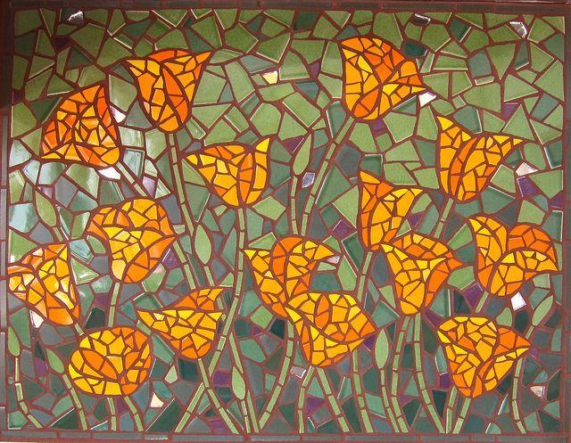 Poppies Mosaic by Rachel Rodi by Rachel Rodi Mosaics, via Flickr