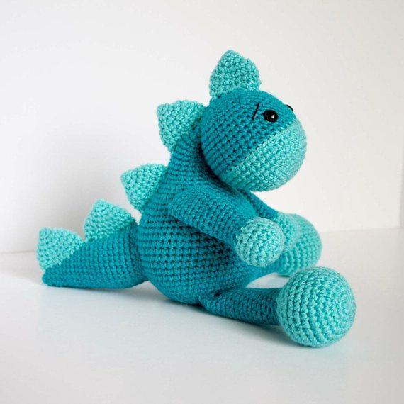 Dinosaur Crochet Pattern  Amigurumi Dinosaur  Crochet Mini Dinosaur Toy Dinosaur Pattern  Crochet Pattern  Fiber Arts
