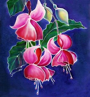 Flowers on silk florals and paintings pinterest silk silk flowers on silk painting mightylinksfo
