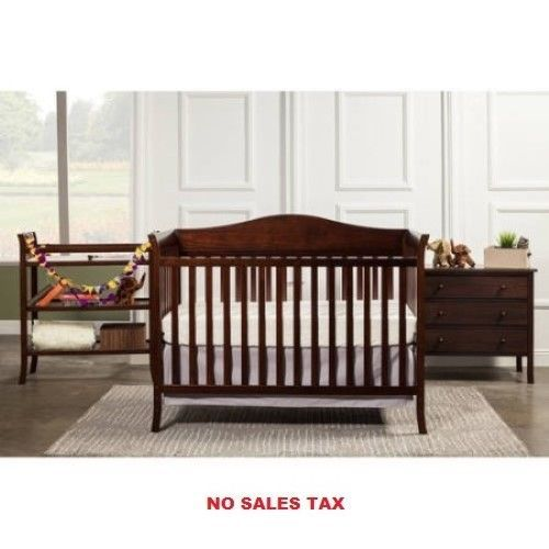 4-Piece Nursery Baby Crib Furniture Bed Set | Common Shopping ...
