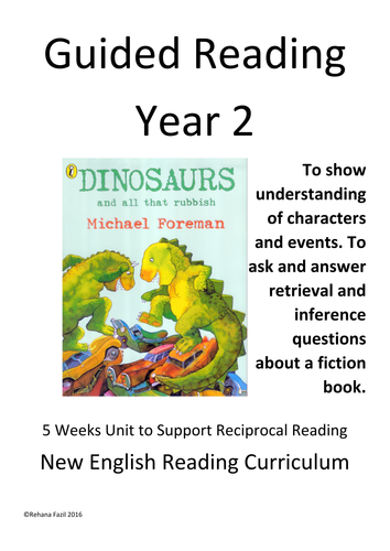 Dinosaurs and all that rubbish guided reading unit of work for The paint brush kid comprehension questions
