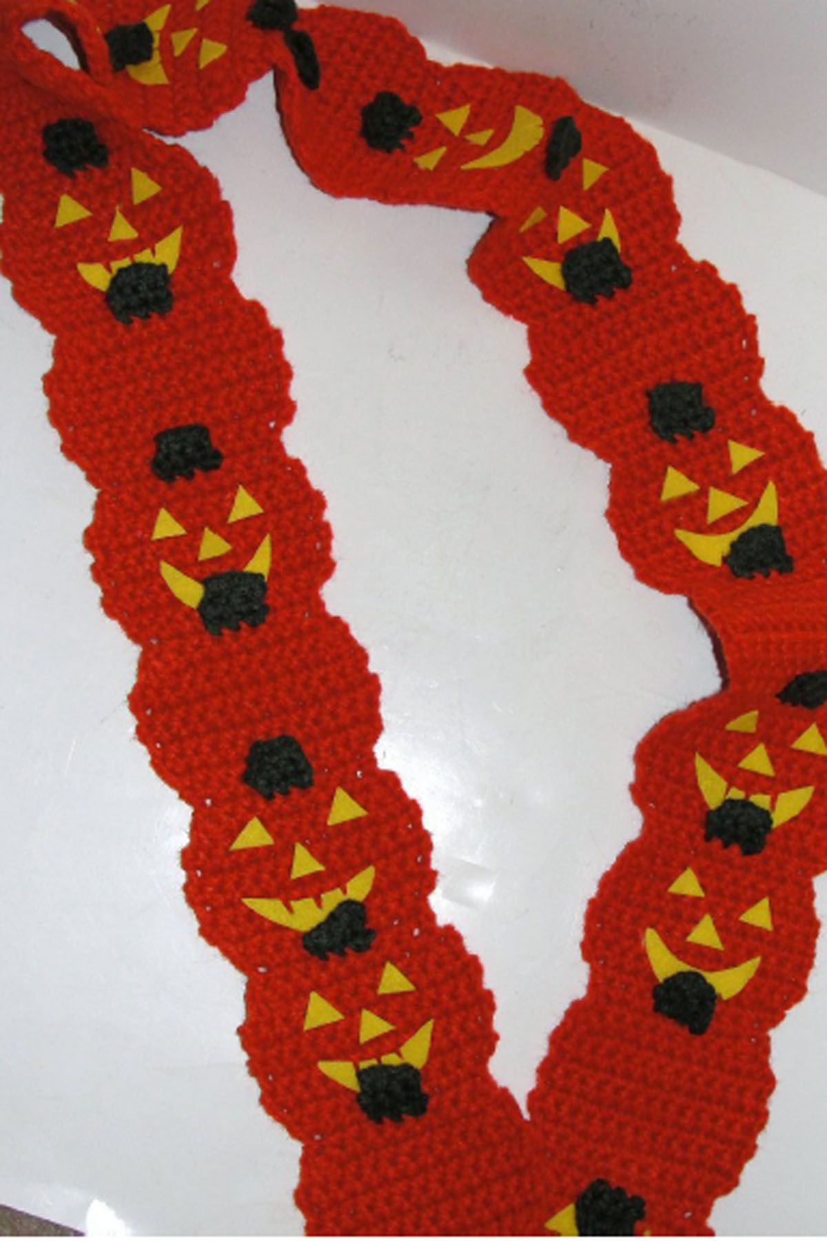 Pumpkin Scarf Free Crochet Pattern | Crochet holidays | Pinterest ...