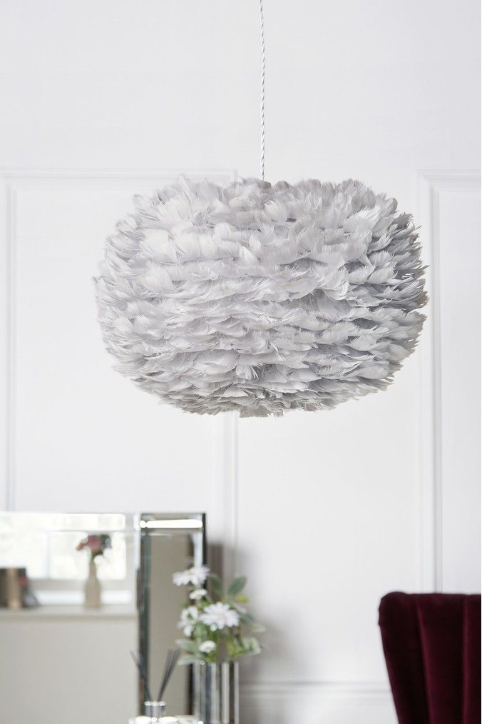 Lipsy Feather Easy Fit Shade Grey In 2020 Feather Light Shade
