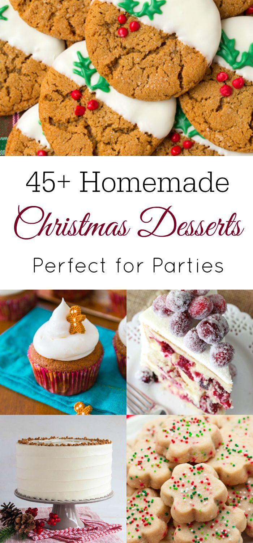 45+ Homemade Christmas Desserts | Christmas cookies, Holidays and ...
