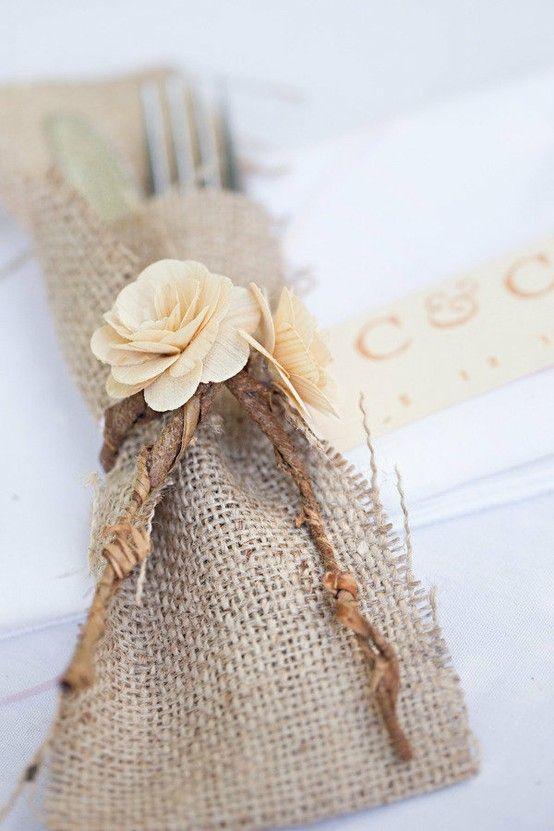 Pretty utensil wrapper