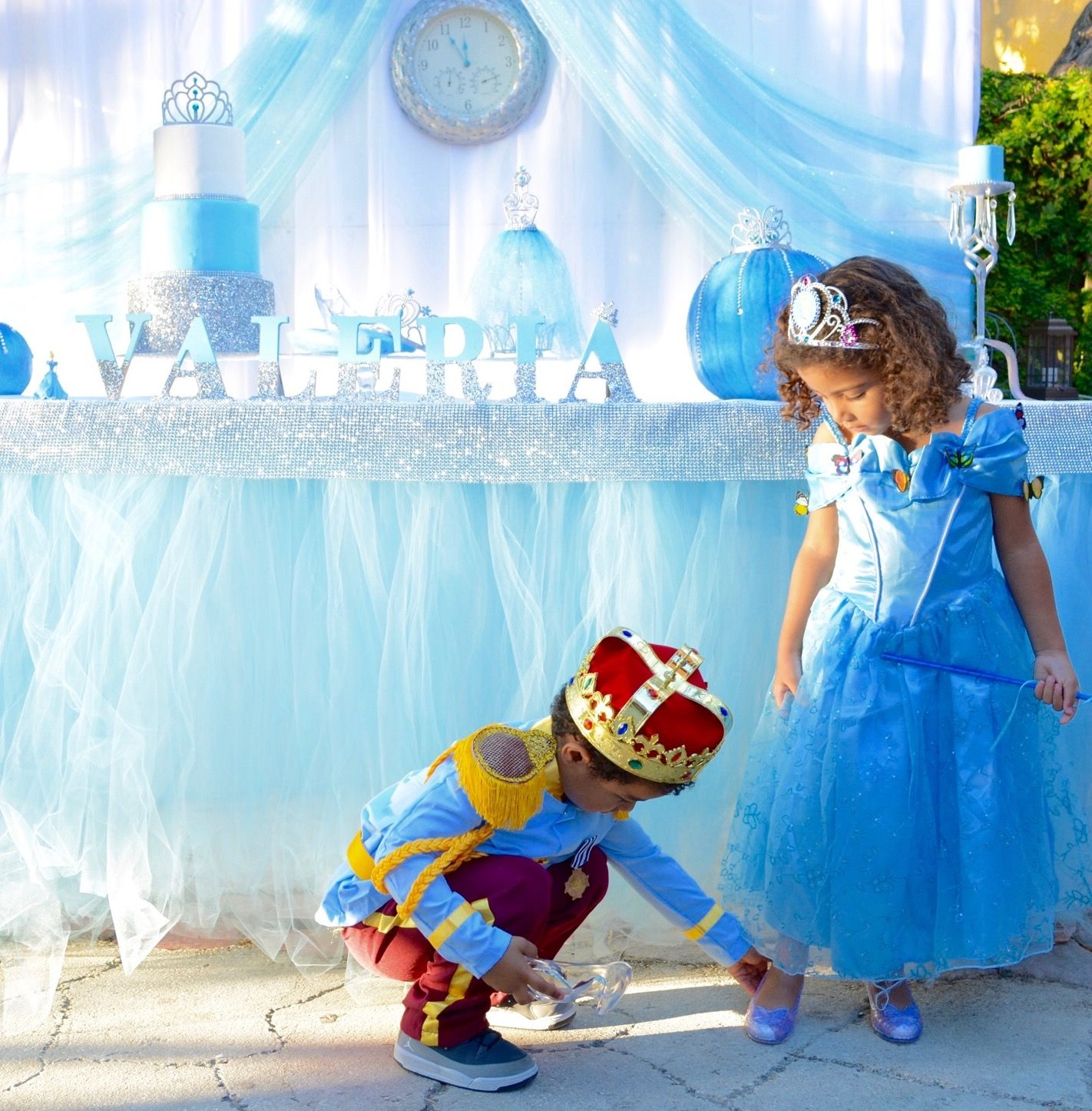Cinderella Birthday Party Cake Table / Princess / Blue / Girl ...
