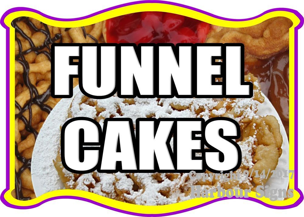 Food Truck Concession Vinyl Sticker Choose Your Size Funnel Cakes DECAL
