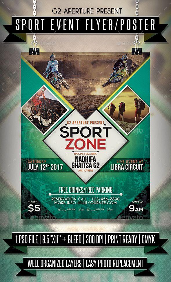 Sport Event Flyer Poster Template Psd Flyer Templates