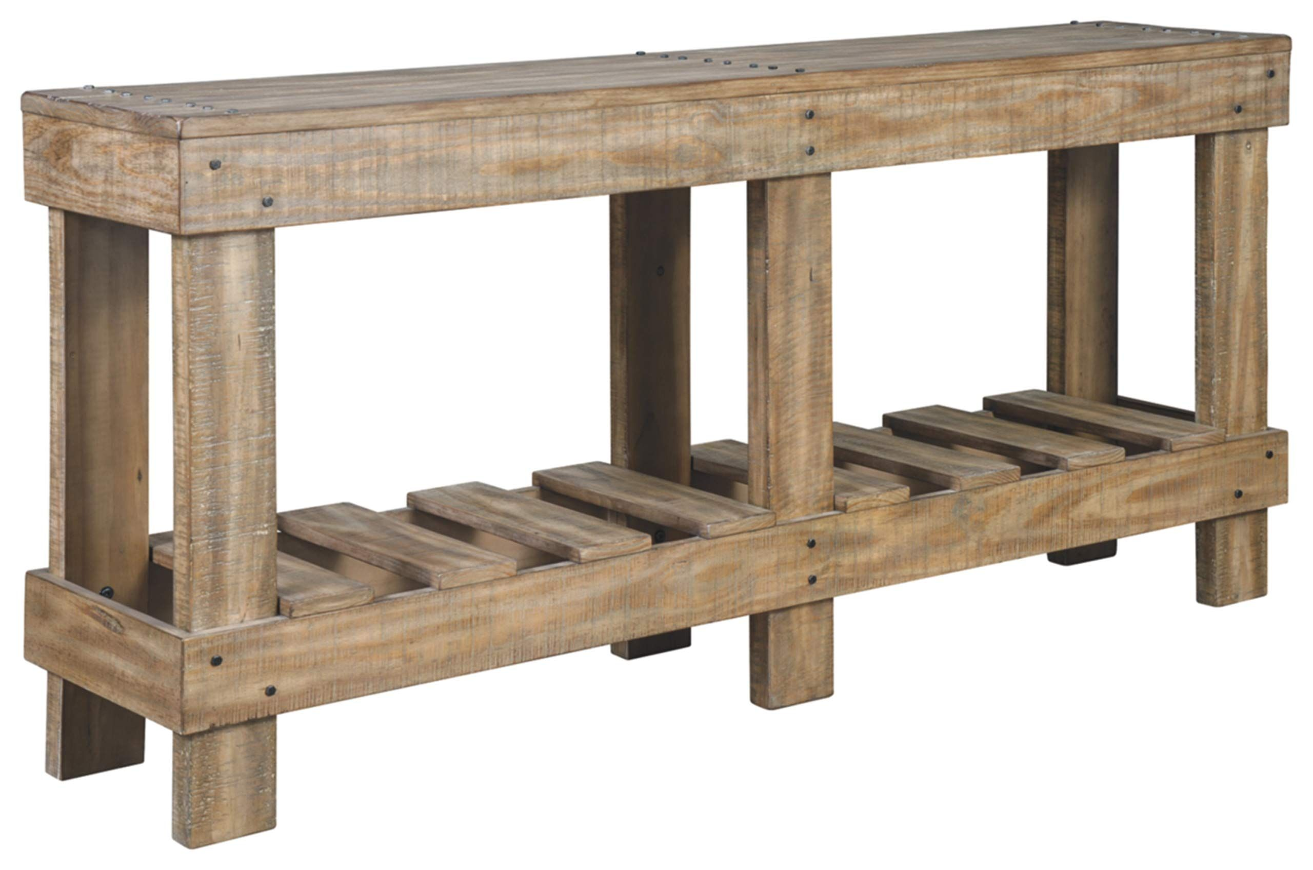 Signature Design By Ashley Susandeer Console Sofa Table Farmhouse Casual Brown In 2020 Sofa Table Furniture Wood Console