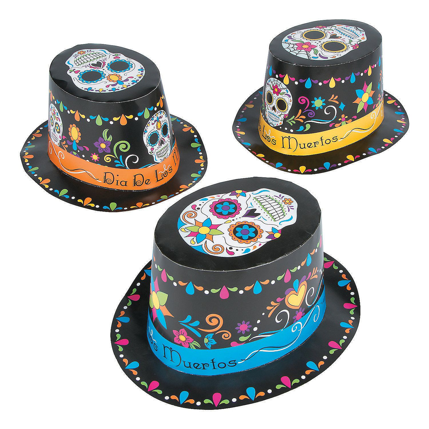 Day Of The Dead Top Hats Orientaltrading