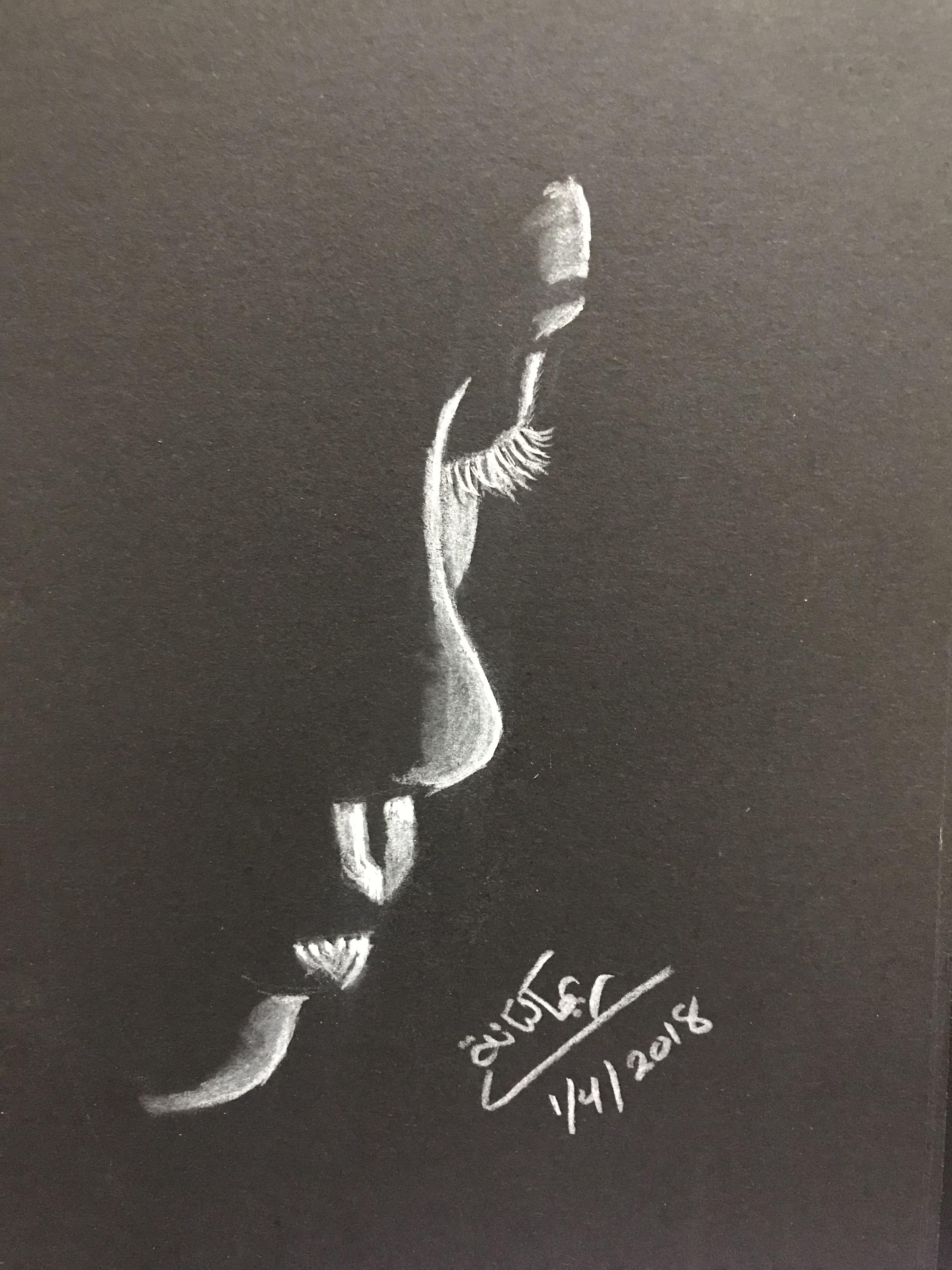 Black paint paintings pencil sketching in 2019 pencil