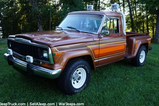 Three 1978 Jeep J 10 Townside Pickup Trucks Golden Eagle Custom And 10 4 Package Jeep Truck Jeep Pickup Jeep Wagoneer