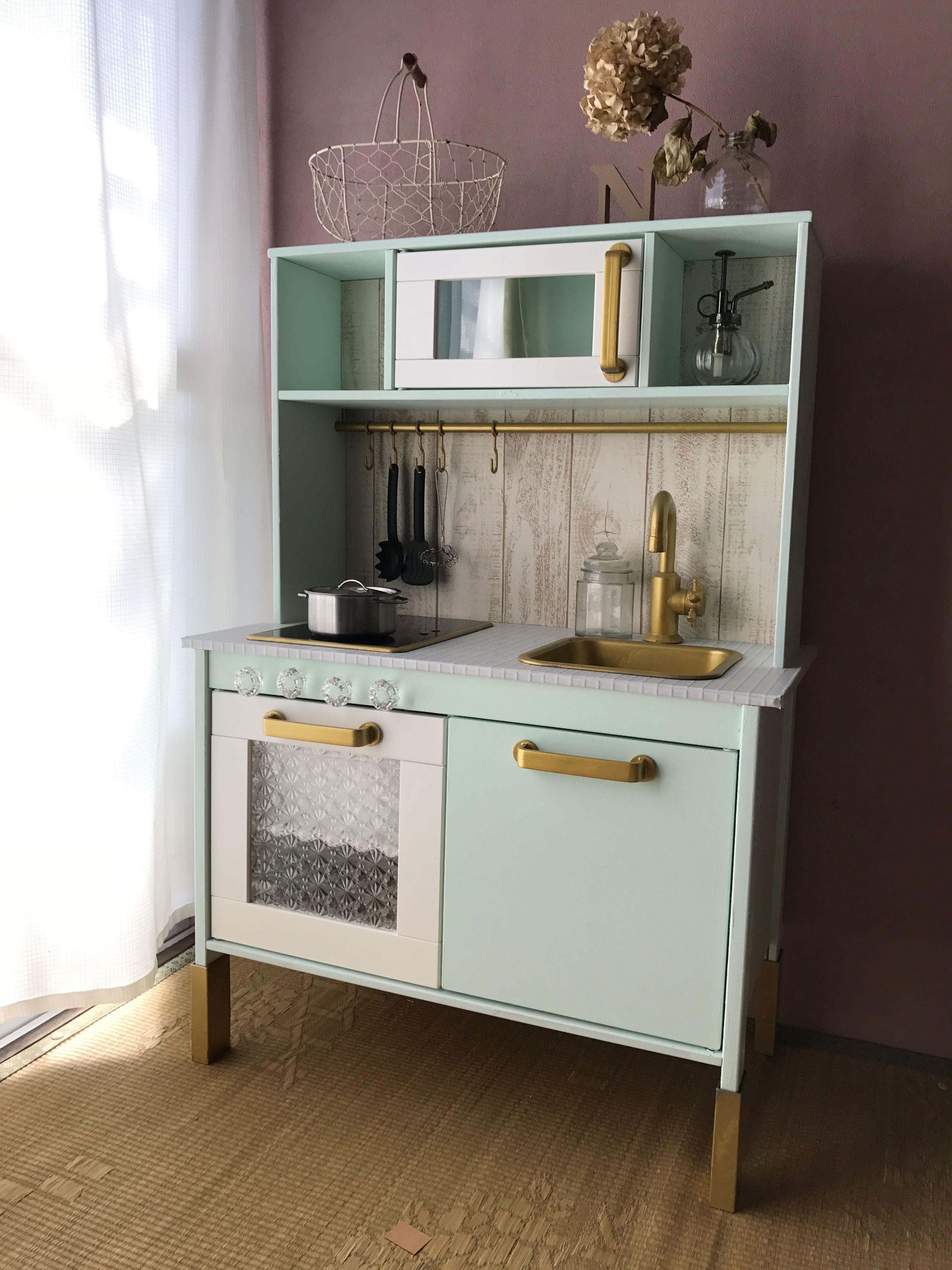 Cocina Infantil Ikea Personalizada Colores Pastel Minimoi  # Muebles Roles Mesillas