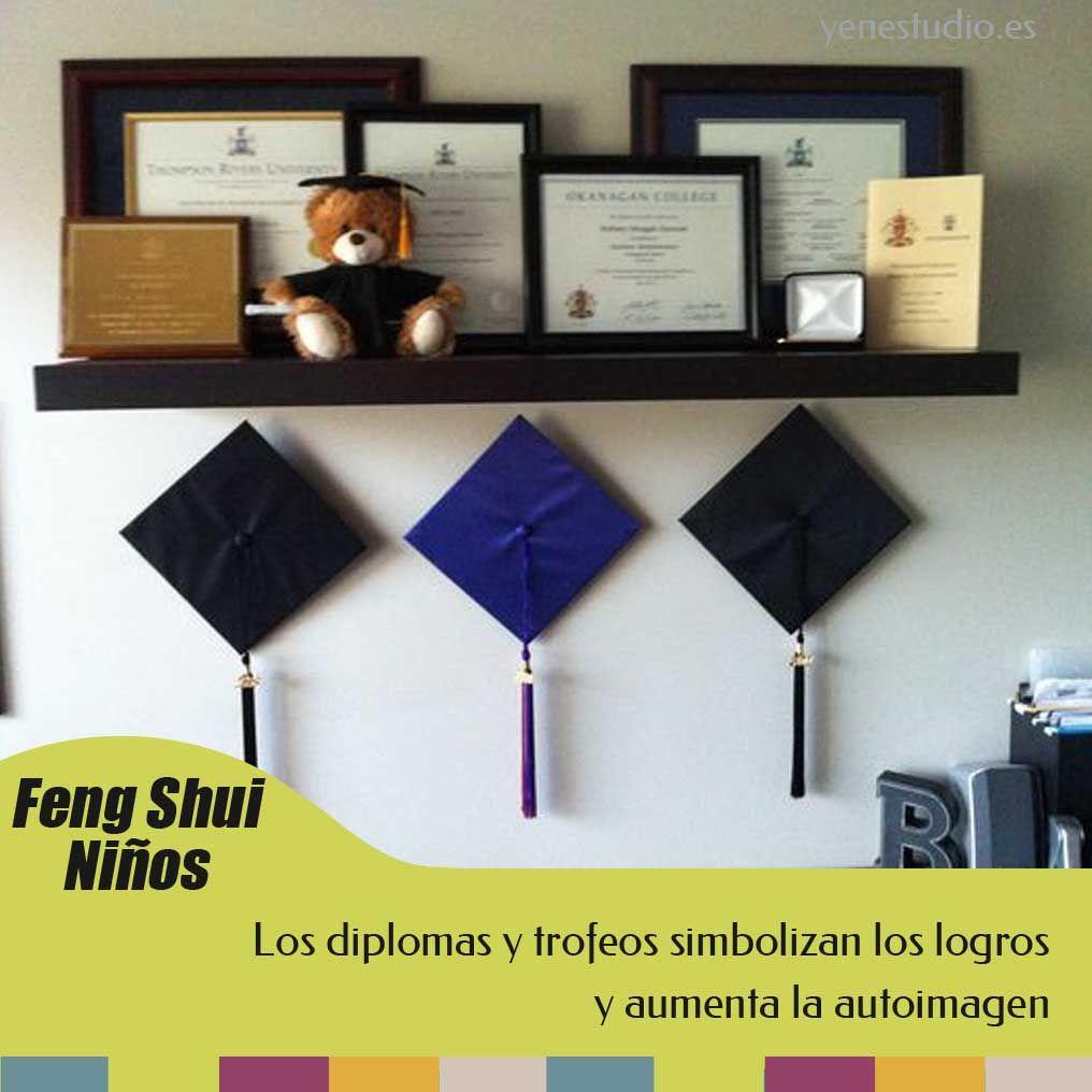 Según el Feng Shui, el uso de diplomas y trofeos ayudan a mejorar la ...