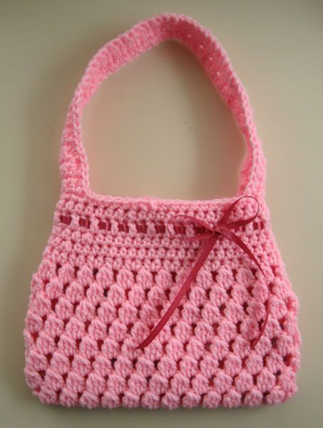 Free Crochet Pattern Bobble Licious Bag Free Crochet Yarns And