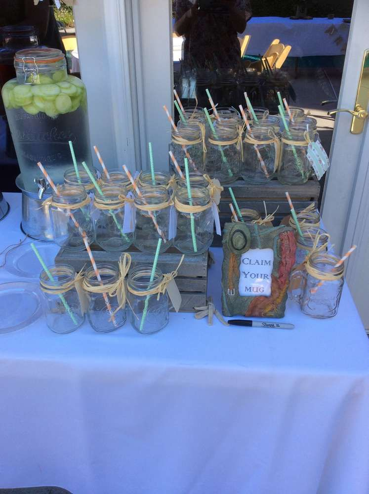 Country Burlap Lace Bridal Wedding Shower Party Ideas