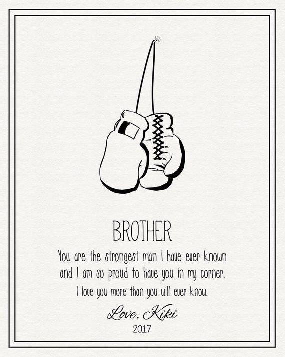 Personalized Gift For Brother Thank You Gift For Brother From Etsy Little Brother Quotes Brother Birthday Quotes Friends Quotes