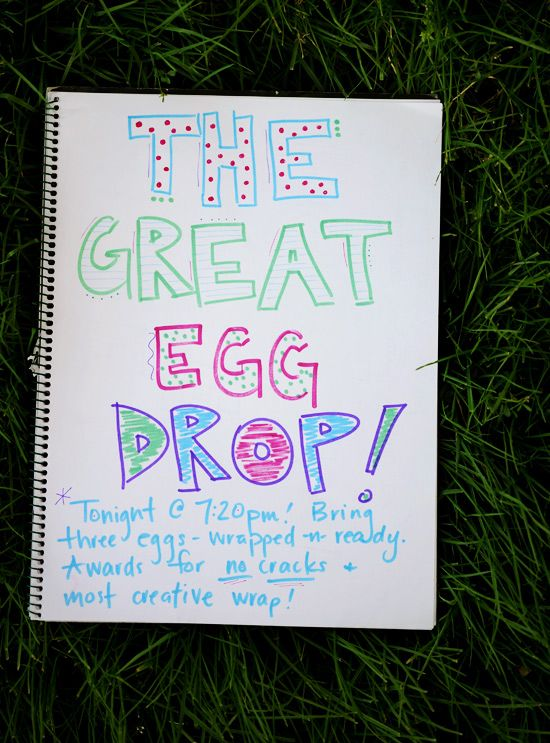 The Great Egg Drop Competition to do on Family Night